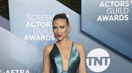 Herečka Scarlett Johansson v kreácii Armani Privé.