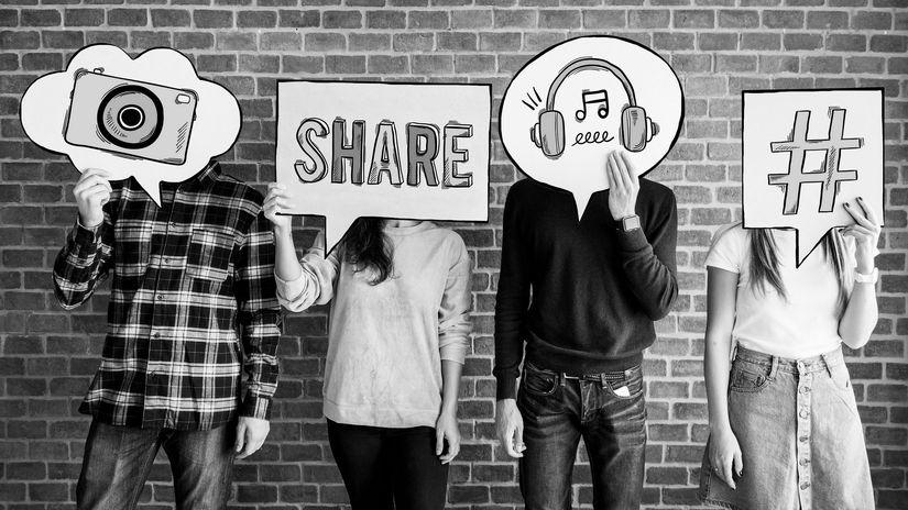 moderná doba, share, hashtag