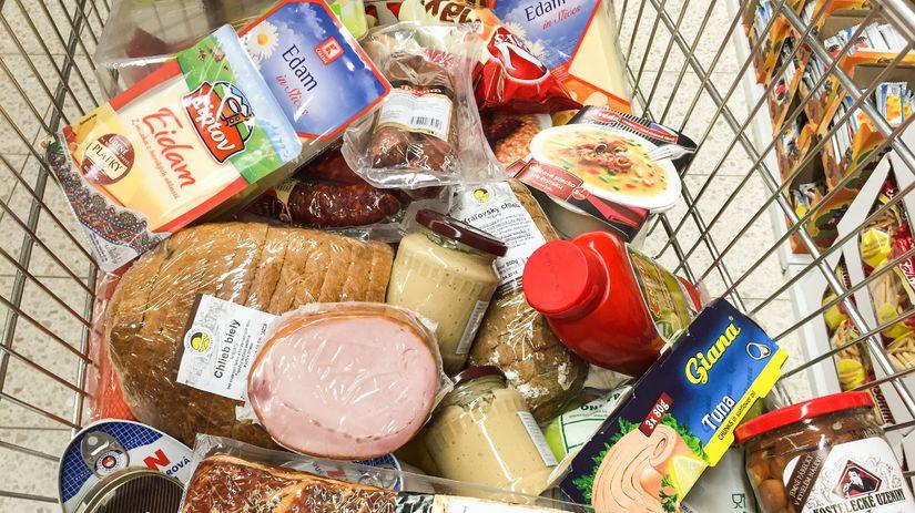 potraviny, nákup, jedlo, reťazce
