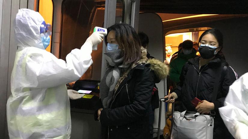 Čína vírus karanténa, zdravotníci, kontrola