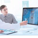 doktor, pacient, obličky, močový mechúr