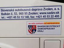 Zvolen / Banská Bystrica / SAD / autobus / nálepka /
