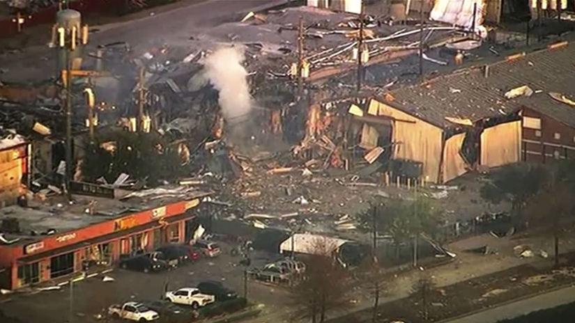 Houston texas explózia ruiny sutiny