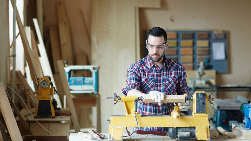 práca, stroj, muž, výroba