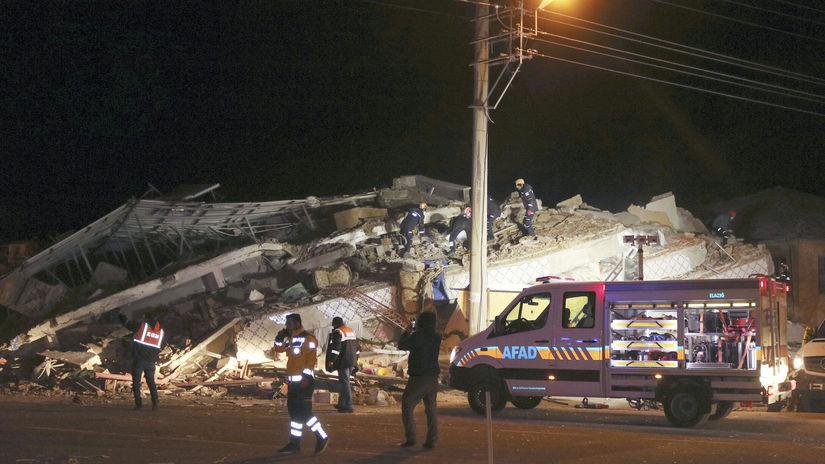 Turecko, zemetrasenie