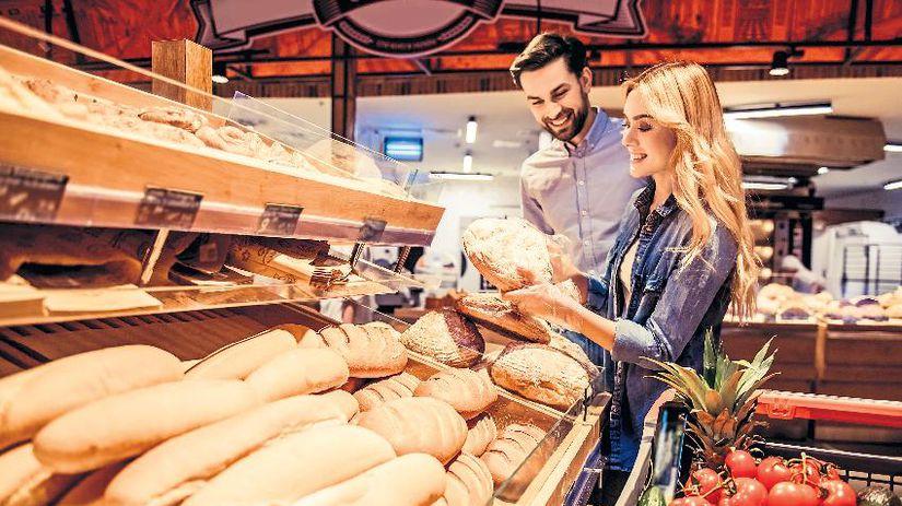 obchod, potraviny, pečivo, chlieb
