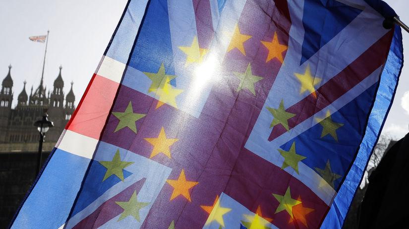 Brexit / Británia / EÚ / vlajka /