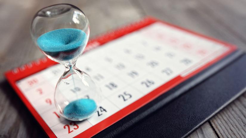 kalendár, presýpacie hodiny, čas