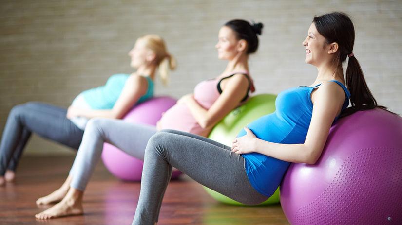 fit lopta, tehotenstvo, cvičenie