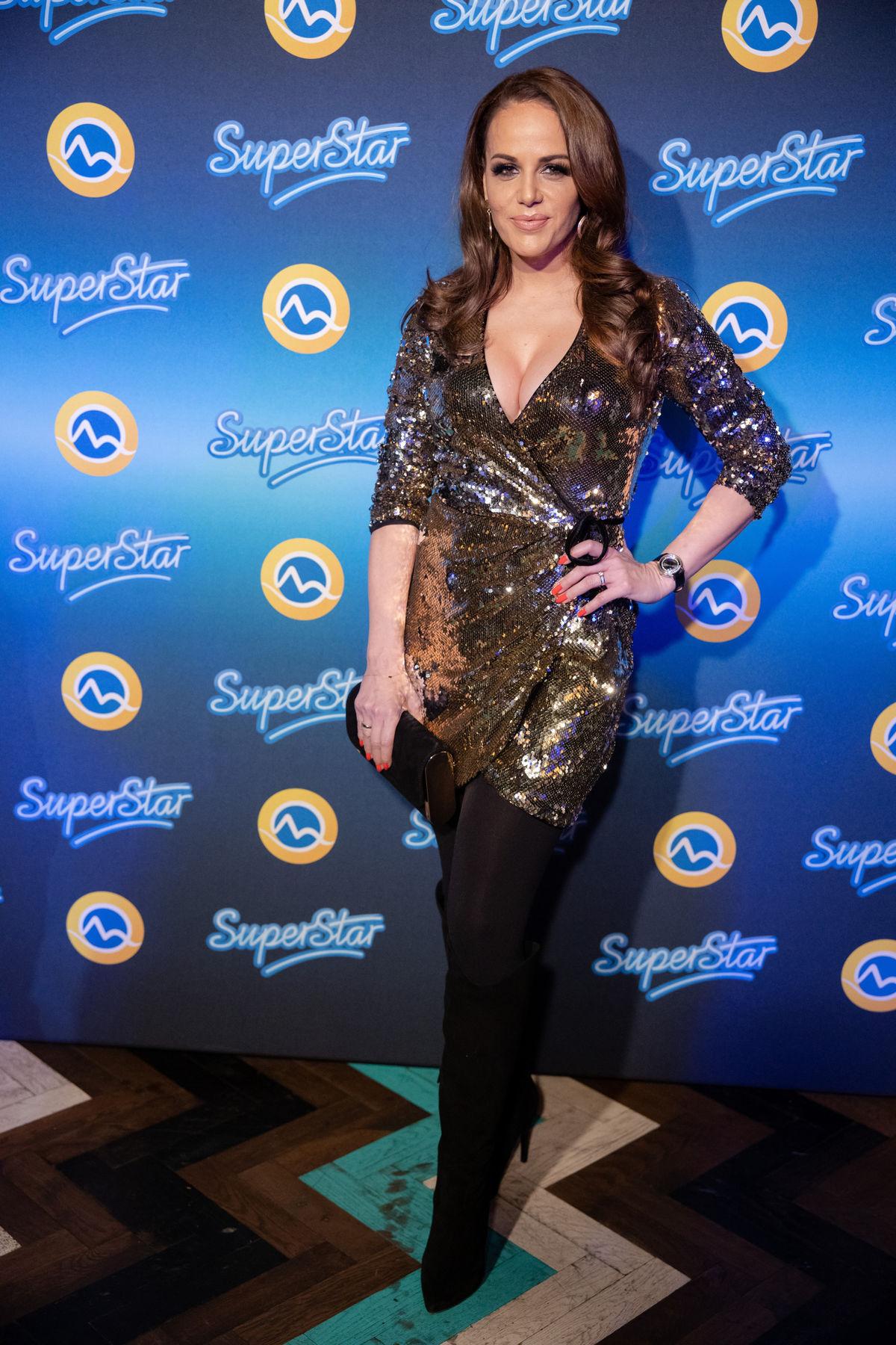 Herečka Karin Haydu na párty televízie Markíza.