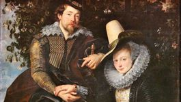 Rubens  Umelec so svojou prvou manzelkou Isabellou Brandtovou.