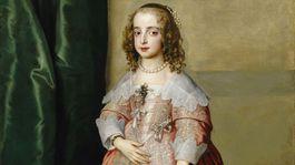 Van Dyck:  Svadobny portret princeznej Marie Henriety Stuartovny  1642  Muzeum krasneho umenia Budapest.