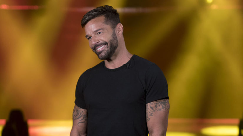 Spevák Ricky Martin počas rozhovoru v rodnom...