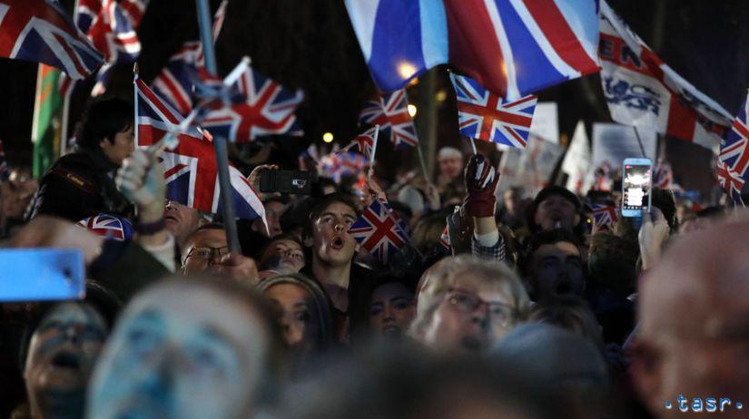 Británia EÚ brexit dohoda odchod oslavy