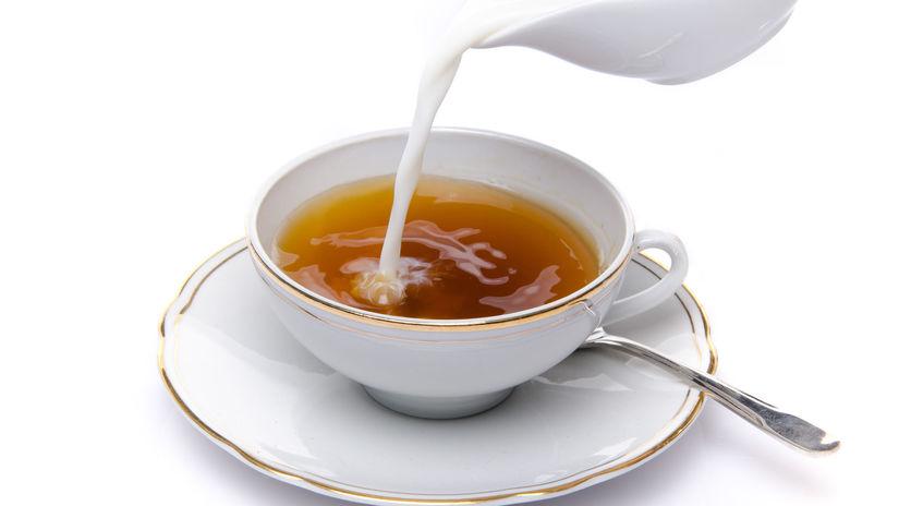 čaj, mlieko