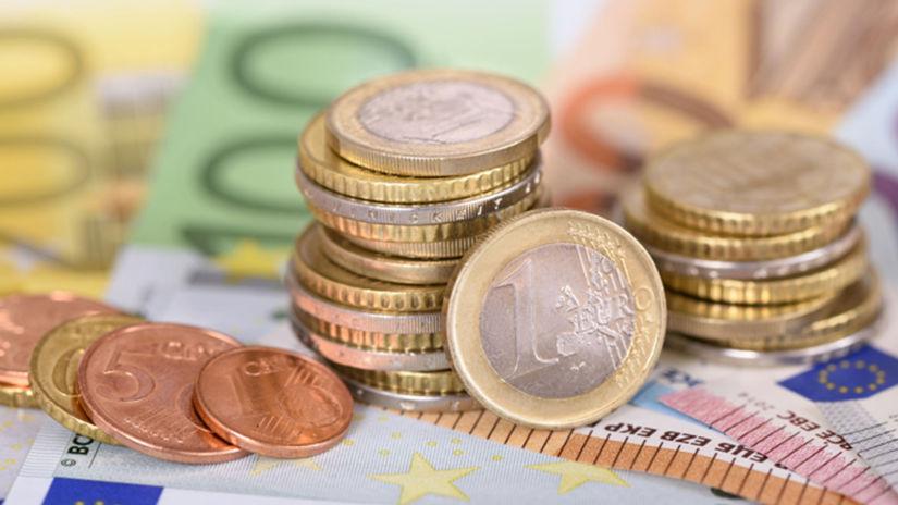 peniaze, bankovky, mince, euro