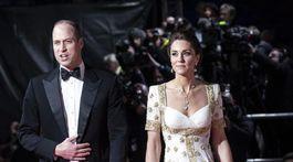 Princ William a jeho manželka Kate, vojvodkyňa z Cambridge prichádzajú na vyhlásenie cien BAFTA.