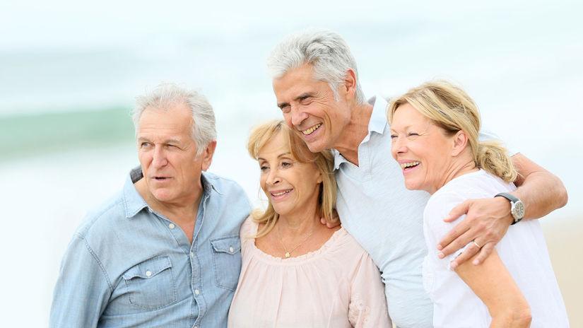 seniori, priateľstvo, manželia, skupina