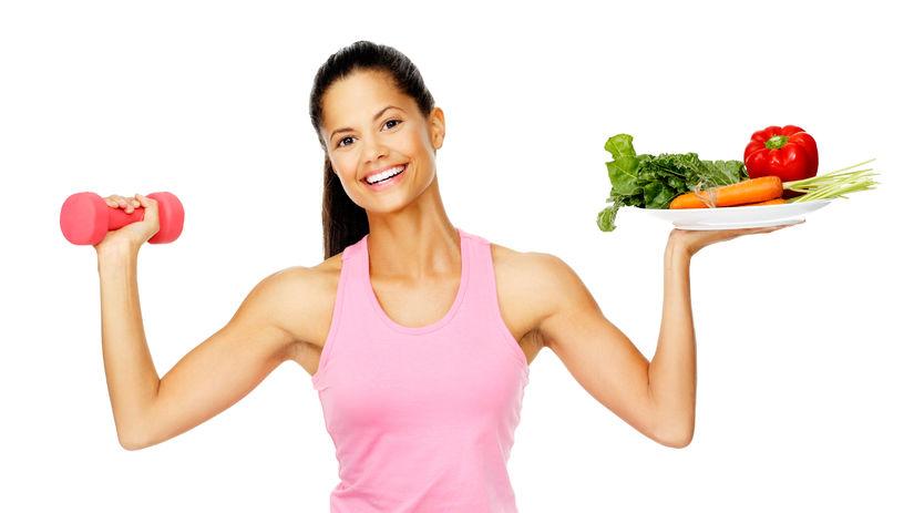 fit, cvičenie, zdravá strava, činka, žena