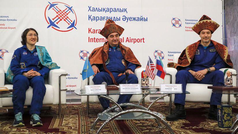 Kazachstan ISS NASA kochová skvorcov parmitano