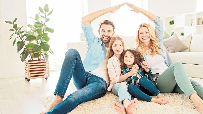 obývačka, bývanie, rodina, radosť