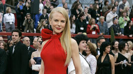 Herečka Nicole Kidman na vyhlásení cien Americkej filmovej akadémie v roku 2007. V kreácii Balenciaga.