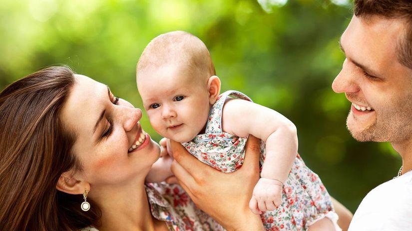 rodina, rodičia, dieťa, bábätko