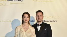 Herečka Marika Šoposká a jej partner.