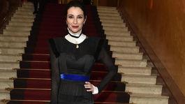 Lucia Hablovičová v šatách od Borisa Hanečku.