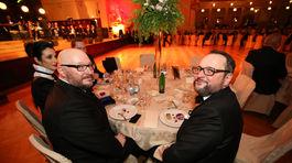 Organizátori akcie Česko-Slovenský ples Lumír Mati (vľavo) a Radovan Čaplovič.