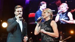 V programe spoločne zaspievali Leona Machálková a Martin Chodúr.