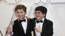 Herci Roman Griffin Davis (vľavo) a Archie Yates z filmu Králiček Jojo.