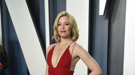 Herečka Elizabeth Banks prišla v šatách Badgley Mischka, ktoré si obliekla už v roku 2004.