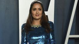 Herečka Salma Hayek na párty magazínu Vanity Fair Oscar Party.