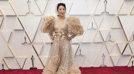 Herečka Sandra Oh v kreácii Elie Saab Haute Couture.