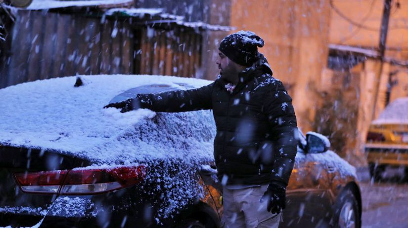 Irak Bagdad počasie sneženie