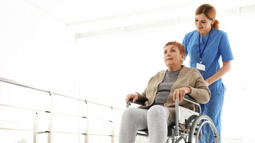 opatrovanie, sestrička, dôchodkyňa, invalidný...