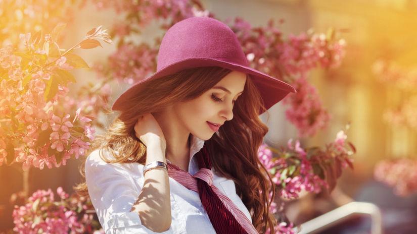 romantika, žena, jar, vôňa, krása, príroda
