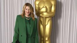 Herečka Laura Dern na akcii Academy Nominees Reception v Londýne.