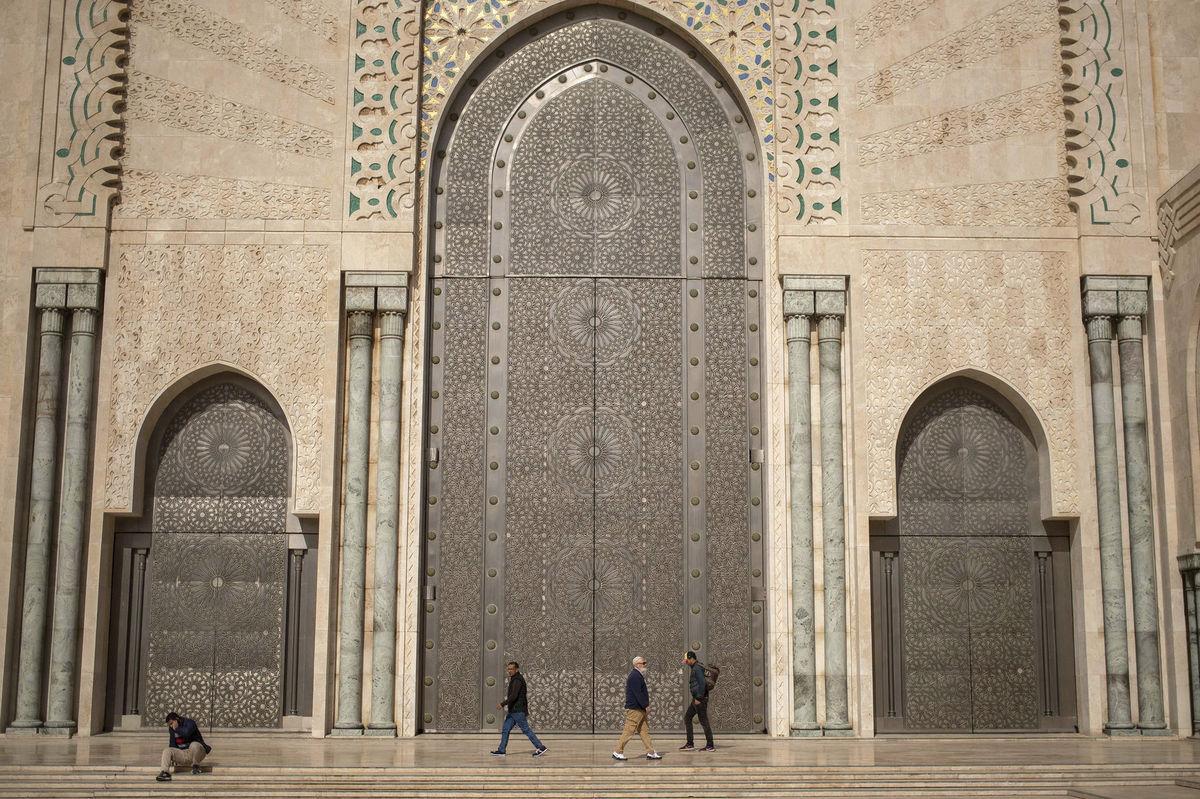 Maroko, brána, moslimovia, mešita, Casablanca