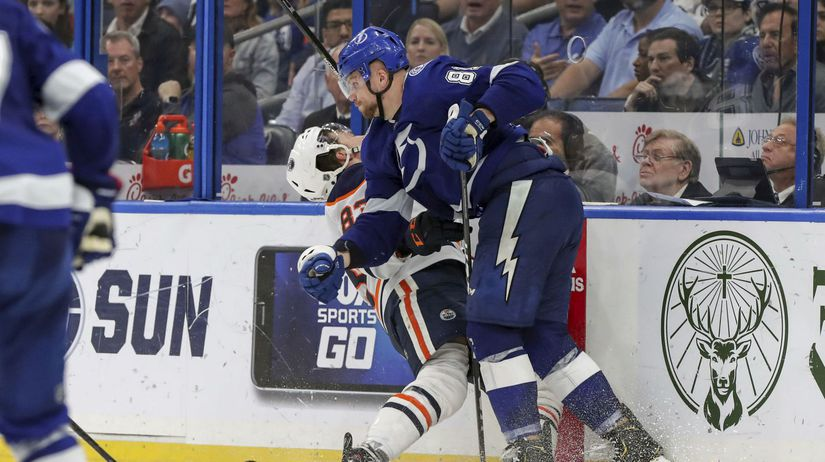 Oilers Lightning Hockey černák