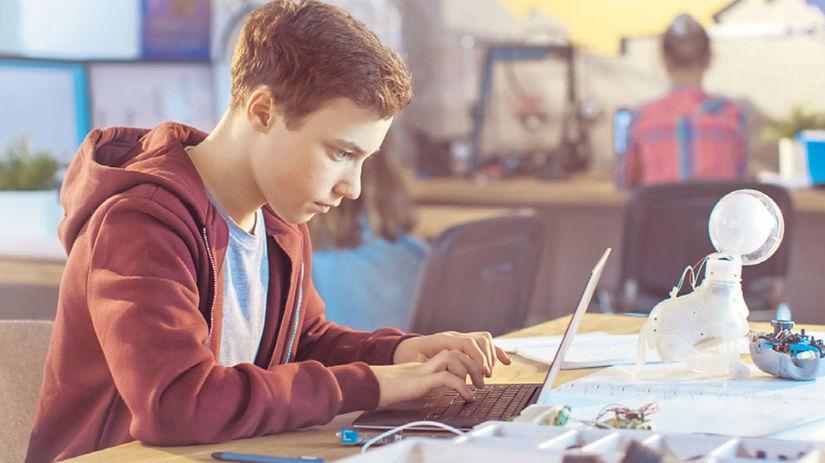 deti, počítač, škola, dieťa, internet