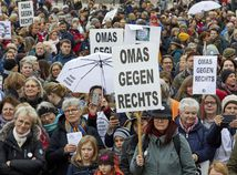 Nemecko / demonštrácia / protest / AfD /