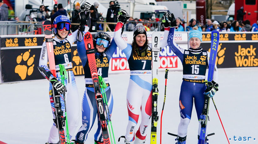 Slovinsko SR Lyžovanie SP obrovský slalom ženy...