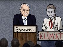 Sanders / Thunbergová / prank /