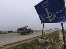 Sýria / cesta / Aleppo / Idlib / značka / Diaľnica M5 /