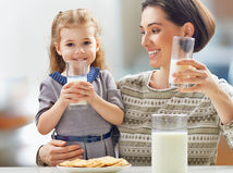 mama, dieťa, dcéra, mlieko
