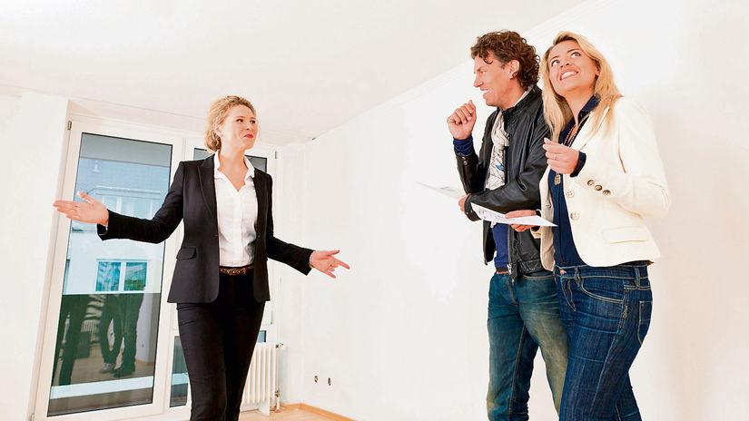 byt, predaj, prenájom, prehliadka, manželia