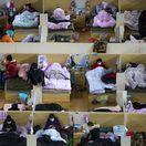 koronavírus, Wu-chan, dočasná nemocnica