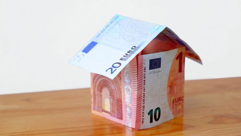 peniaze, euro, dom